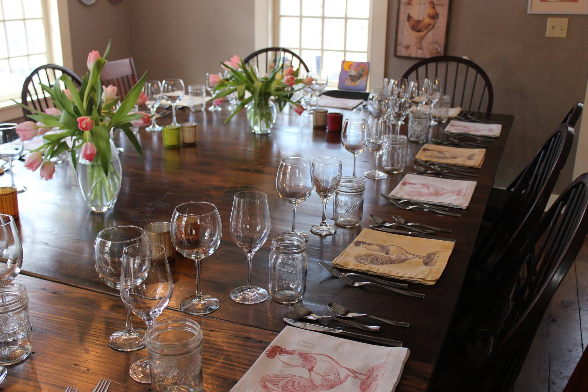 French farm to table dinner